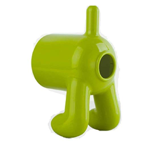 1PCs Tissue Boxes roll Paper Holder Creative Cute Dog Shape Plastic Standing Tissue Box Magic Sticker Handing Toilet Paper Holder-Green (Dog Standing Toilet Paper Holder)