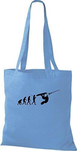 Bolso Algodón Azul De Claro Hombre Shirtinstyle Para Asas zwttqP