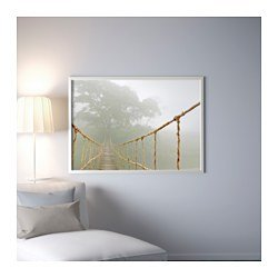 Ikea Picture and frame, jungle journey, aluminum color 55x39 ¼ ''