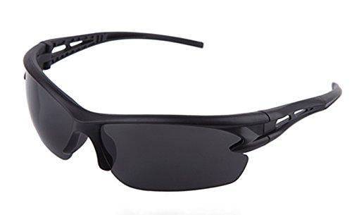 Modemoven Polarized Designer Fashion Sports Sunglasses for Baseball Cycling Fishing Golf Superlight Frame, Black Frames/Purple Lens 57MM