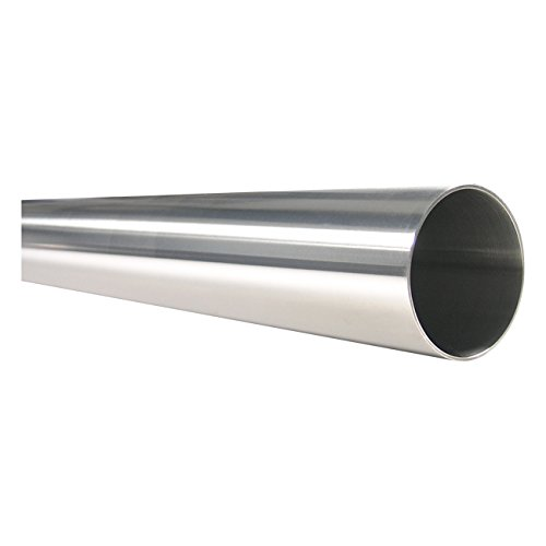 1-1/2'' OD 3A Polished Stainless Steel Tubing, 316L, Welded, 16 Gauge (.065'') - 5' Length by RathGibson