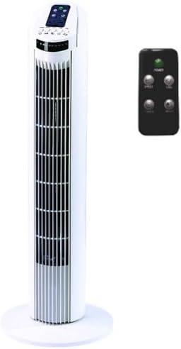 Alpatec TF 780 T Ventilateur colonne 3 vitesses 45 W Blanc