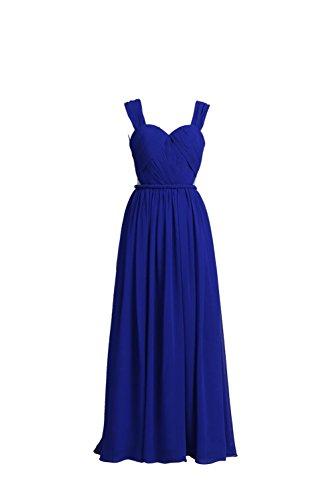 YiYaDawn -  Vestito  - linea ad a - Donna blu reale 44