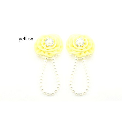 accéssoire, couvres patas en perlas, Modelo amarillo claro