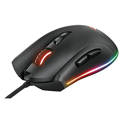 chollos oferta descuentos barato Trust GXT 900 Kudos Ratón para Gaming RGB 100 15000 PPP 7 Botones Negro