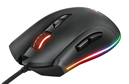 Mouse Gamer RGB TRUST GXT 900 Qudos, sensor Pixart PMW3360, 15.000dpi, Memória interna, 7 botões programáveis