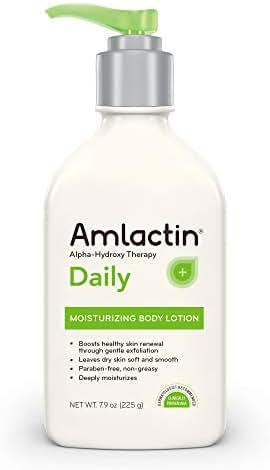 AmLactin Daily Moisturizing Body Lotion,Bottle, Paraben Free, 7.9 Ounce (Pack of 1)