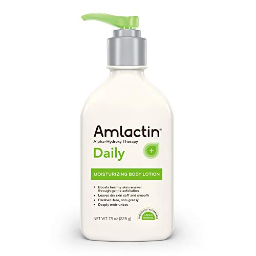 Oil Hydrating Free Fluid - AmLactin Daily Moisturizing Body Lotion, 7.9 Ounce Bottle, Paraben Free