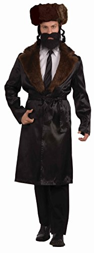 Forum Novelties Men's Plus-Size Adult Extra Large Rabbi Costume, Brown, -