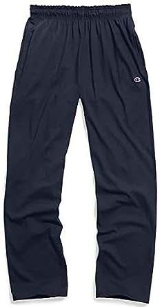 Champion Men's Open Bottom Light Weight Jersey Sweatpant, Navy, Small