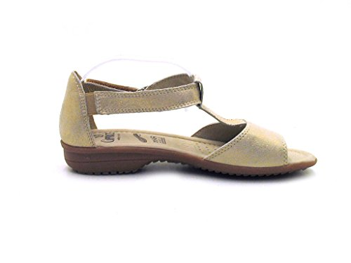 Caprice - Sandalias de vestir de cuero para mujer dorado - Light Gold