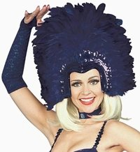 - Forum Novelties Purple Feathered Show Girl Headpiece
