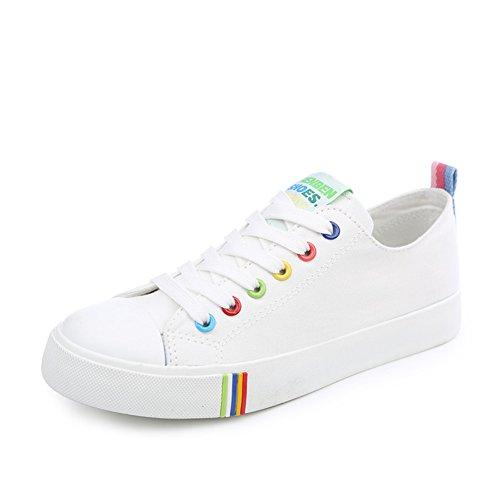 Zapatos de lona de verano/Zapatos del patín de fondo plano Coreano clásico/Onda de calzado transpirable mujeres bajo A