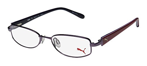 Puma 15356 Femto Womens/Ladies Designer Full-rim Eyeglasses/Eyeglass Frame (50-16-135, Purple / Raspberry)