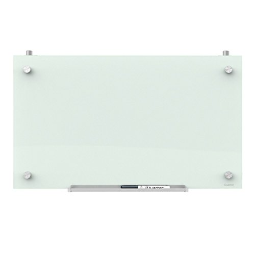 Quartet Magnetic Whiteboard for Cubicle Walls, Glass White Board, Dry Erase Board, 24
