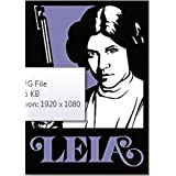 """FATHEAD Princess Leia Star Wars Graphic Officially Licensed Vinyl Wall Graphic Re-Usable and Removable Decal 21""""x15"""" INCH"""
