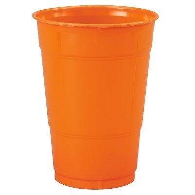 Creative Converting Orange 16 oz Plastic Cups - 20 ct