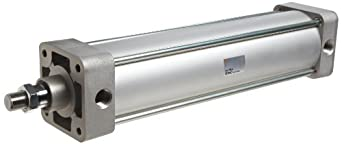 SMC NCA1 Series Aluminum Air Cylinder, Tie-Rod, Double Acting, Basic Style Mounting, Switch Ready, Cushioned