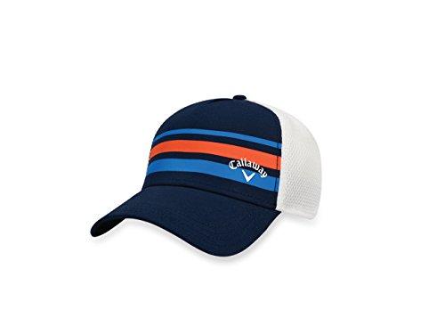 Callaway 2017 Stripe Mesh Hat, Navy/White, Large/X-Large