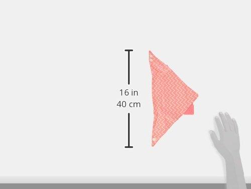 L/ässig Bandana avec El/ément de Dentition en Silicone Motif Zigzag Rouge