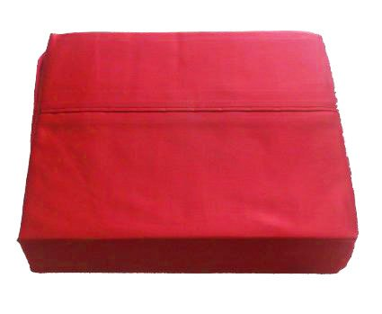 RALPH LAUREN Admiral Red Dunham Sateen Sheet Set, Queen Size