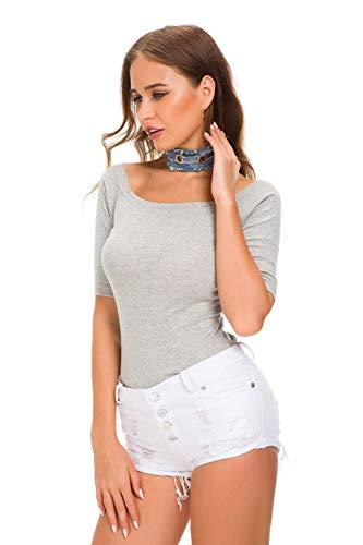 White caldi a jeans in donna Easy da Shopping di pantaloncini jeans discoteca vita Pantaloni sexy donna notte da da da Go alta BqtOq1