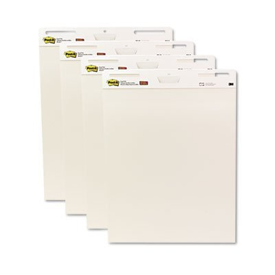 Self-Stick Easel Pads, 25 x 30, White, 4 30-Sheet Pads/Carton, Sold as 4 Pad