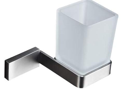Amgend 304 acero inoxidable cepillo de dientes titular boca taza baño vidrio cepillo taza conjunto baño baño taza colgar en la pared: Amazon.es: Bricolaje y ...