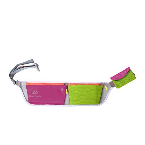Ejecución de los bolsillos de los deportes/Bolso al aire libre móvil ultra ligero de los hombres/Equipo de maratón/Campo a través ejecutar Pocket-Rosa roja Rosa roja