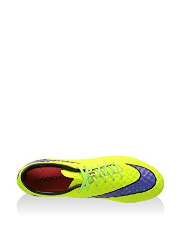 Nike Botas de fútbol Hypervenom Phantom Fg Amarillo Flúor / Morado EU 42.5 (US 9)
