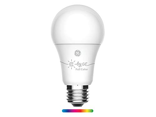 C by GE A19 LED Smart Light Bulb – Full Color Changing Light Bulb, 1-Pack, Works with Amazon Alexa and Google Home, Bluetooth Light Bulb