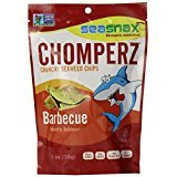 Seasnax Chomperz Crunchy Barbecue Seaweed Chips, 1 Ounce -- 8 per case.