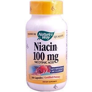 Nature Way - Niacine, 100 mg, 100 capsules