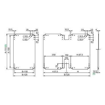 Schneider electric nsypmm1010Plaque de support métallique pour placard Pla, Al 1000x an 1000mm