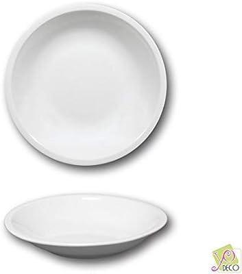Roma - Plato hondo (porcelana, 20,5 cm de diámetro), color blanco ...