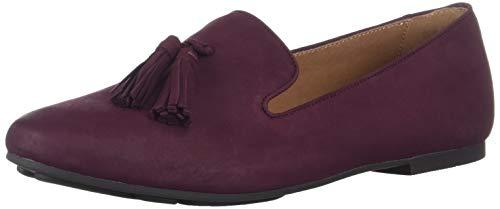 Gentle Souls by Kenneth Cole Women's Eugene Tassel Loafer Flat Shoe, plum, 10 M US