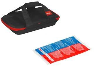 - Pyrex 3qt Portable Black Bag with Hot/Cold Pack (no dish)