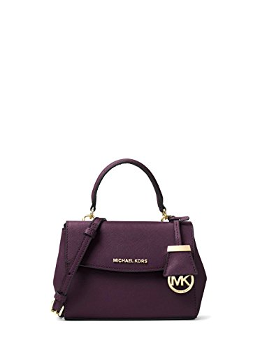 Extra Small Handbag (MICHAEL Michael Kors Ava Extra Small Saffiano Leather Crossbody Bag - Damson)
