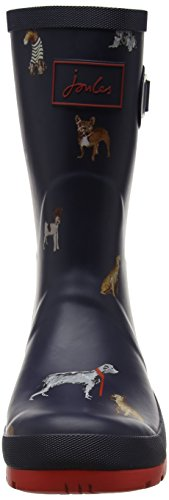 Joules Womens Molly Welly Rain Boot Francese Navy Chic Dogs