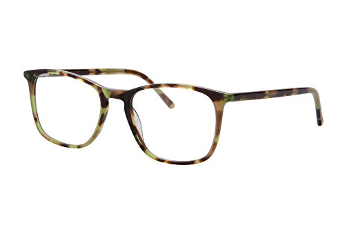 SHINU Ultra Thin Acetate Frame Progressive Multifocus Computer Reading Glasses-SH042(green demi, up 0 down - Zero Glasses Magnification