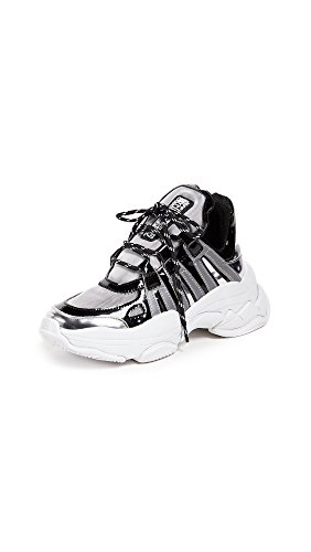 Jeffrey Campbell Women's WiFi Trainers, Silver Multi, 5.5 M - Jeffrey Out Cut Campbell