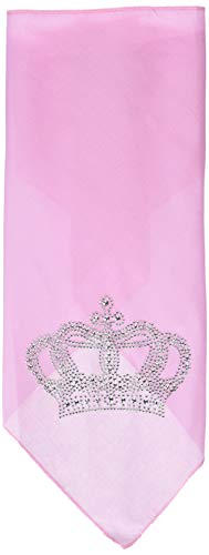 Mirage Pet Products Crown Rhinestone Bandana, Large, Light Pink from Mirage Pet Products
