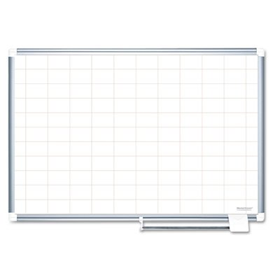 Grid Planning Board, 2x3 Grid, 72x48, White/Silver, Sold as 1 Each by MasterVision
