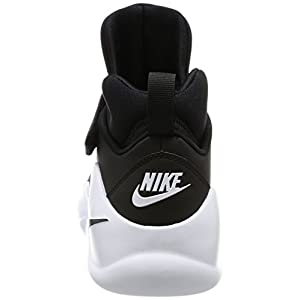 NIKE Men's Kwazi Basketball Shoe, Black/Black/White, 10.5 D(M) US