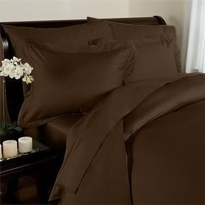 Amazon Lightning Deal 71% claimed: Elegant Comfort 1500 Thread Count Egyptian Quality Super Soft Wrinkle Free 4-Piece Sheet Set Queen Chocolate Brown