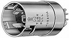 Hubbell Shore Power Plug Connector (50A 125/250V Male Plug)