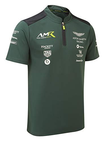 Aston Martin Racing Sterling Green Polo Shirt (Large) (Mens Polo Racing)