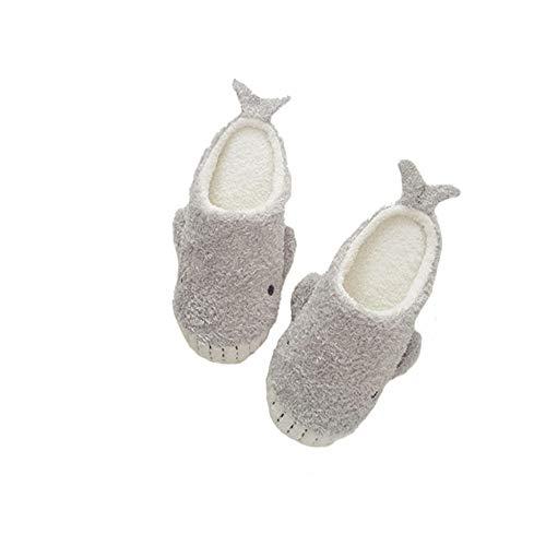 Casa Morbido 36 X Gray Paio Da White colore milk Bianco White Cotone Pantofole Coperte love grigio In Latte Dimensioni Calde Antiscivolo Fondo Mocio Ciabatte qzIrUBz