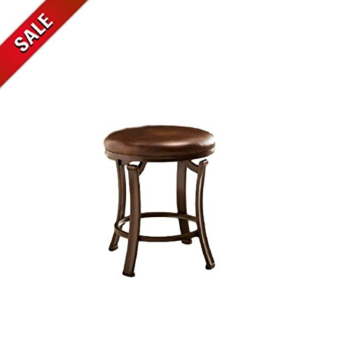 Small Vanity Stool Vintage Wood Portable Backless Bronze Counter Height Makeup Vanity Stool Bedroom Antique Seat Stool & eBook by AllTim3Shopping