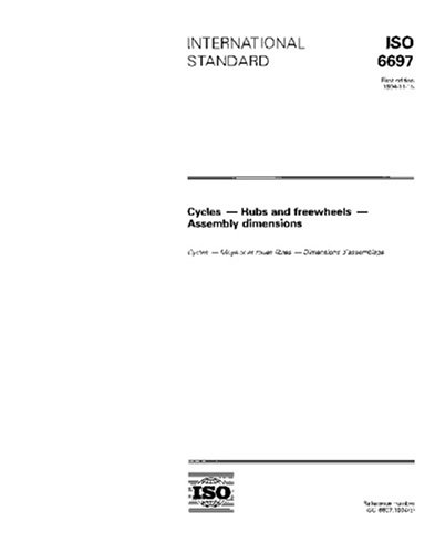 ISO 6697:1994, Cycles - Hubs and freewheels - Assembly dimensions